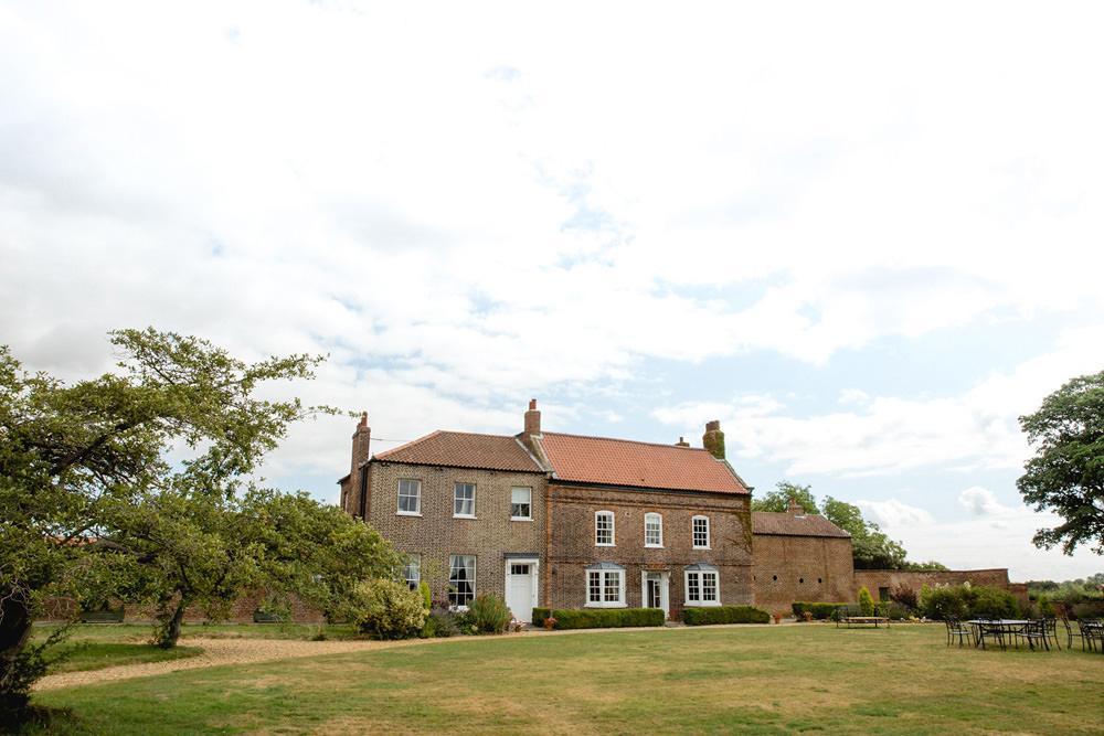 Outside of Hornington Manor York Wedding Barn