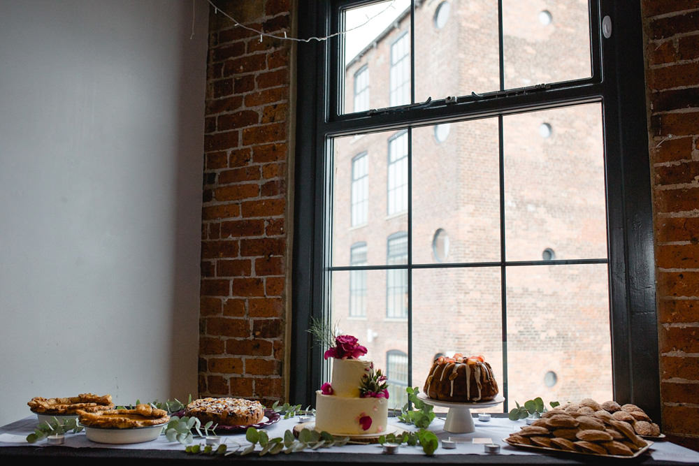 Cakes from Noisette bake house at northern monk refectory wedding venue