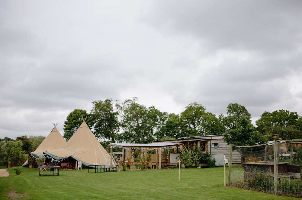 The tipi at talton lodge wedding venue