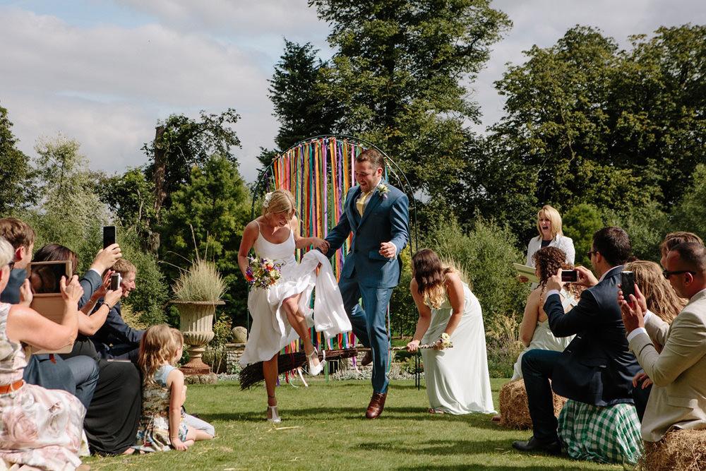 outdoor wedding ceremony at Talton Lodge