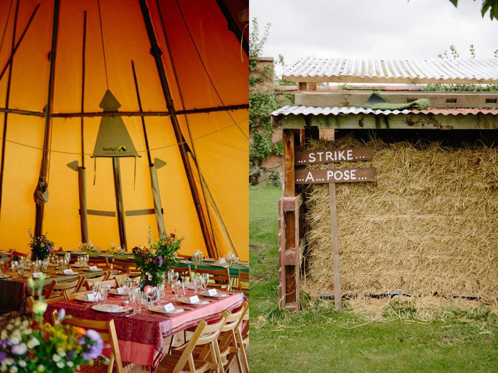 rustic tipi wedding styling