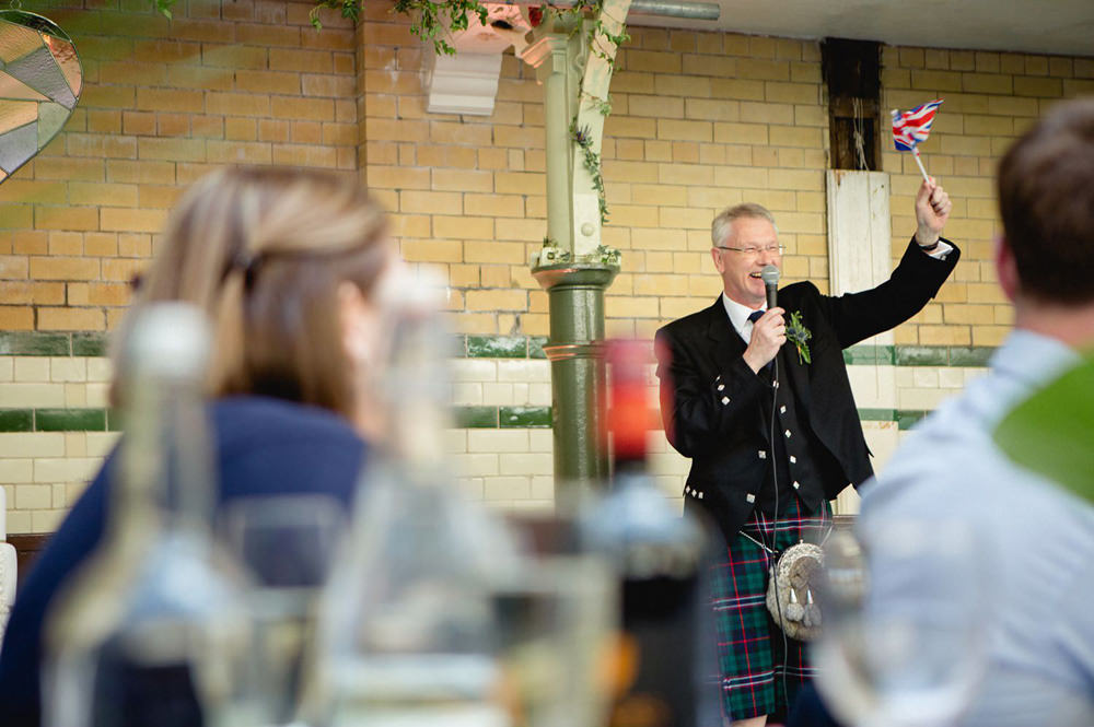 father of the bride speech with a Scottish theme